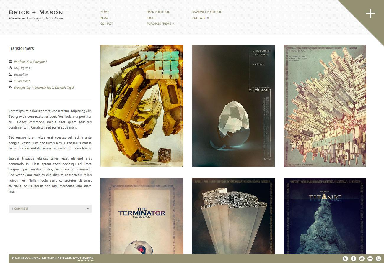 Brick + Mason: Premium Photography and Blog Theme
