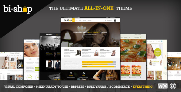 Bi-shop All In One: Ecommerce & Corporate theme (eCommerce) images