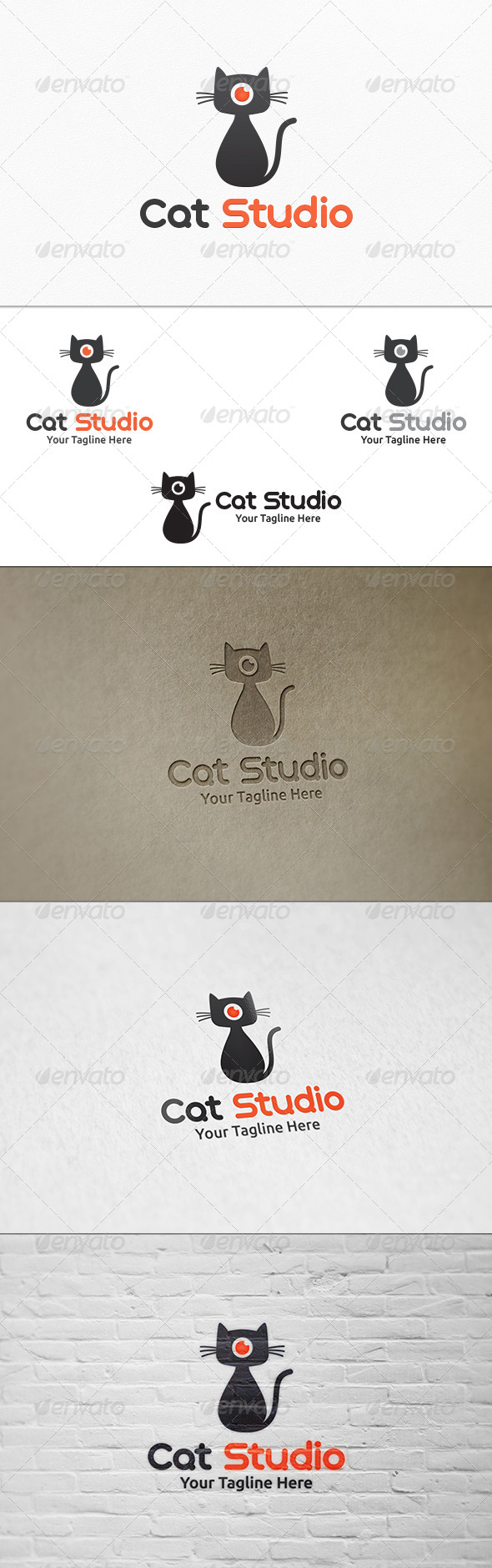 GraphicRiver Cat Studio Logo Template 8079397