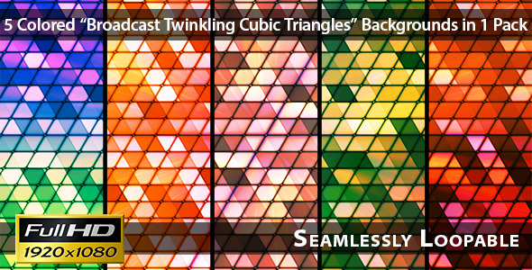 Broadcast Twinkling Cubic Triangles Pack 02