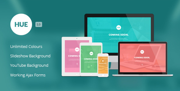 ThemeForest Hue Responsive Under Construction Template 8079640