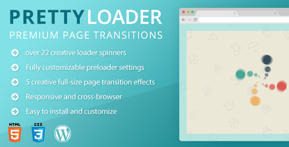 PrettyLoader – your visitors will fall in love with your fresh WordPress site from the first sight. PrettyLoader is the Best Preloader for WordPress. Pre