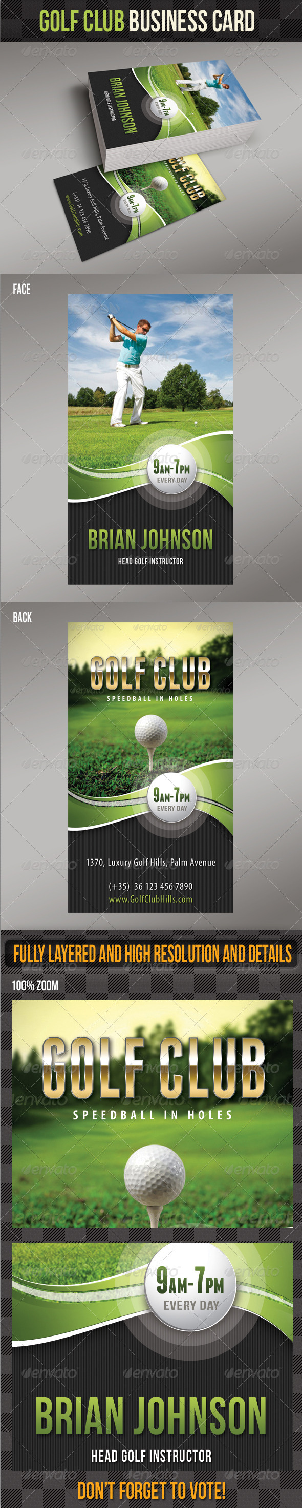 GraphicRiver Golf Club Business Card 8079710