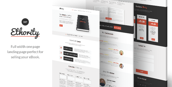 ThemeForest Ethority One Page eBook Landing 7974772