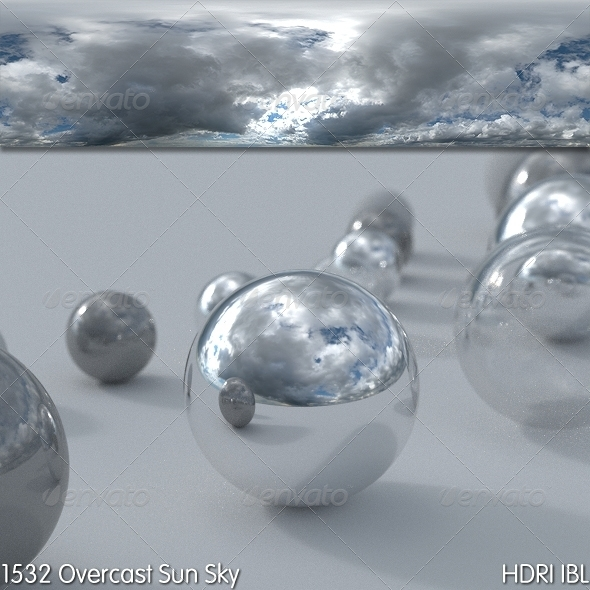 HDRI IBL 1532 Overcast Sun Sky - 3DOcean Item for Sale