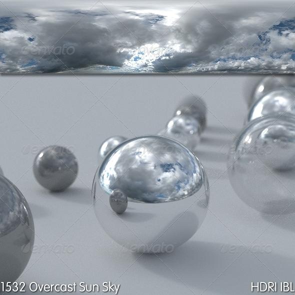 3DOcean HDRI IBL 1532 Overcast Sun Sky 8079834