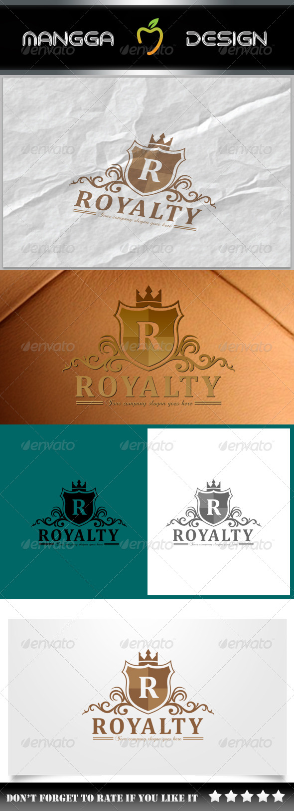 Royalty Crest Logo