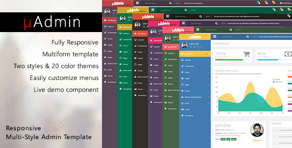 ThemeForest mAdmin Responsive Multi-Style Admin Template 7996710
