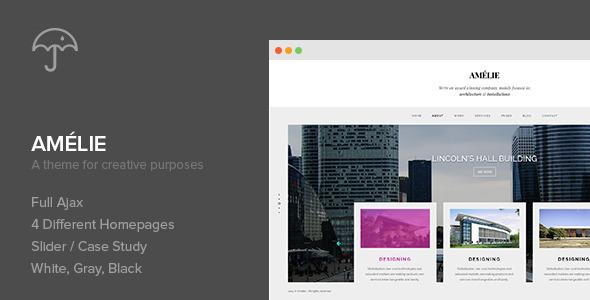 ThemeForest Amelie WP Theme for Creatives & Photographers 8020215