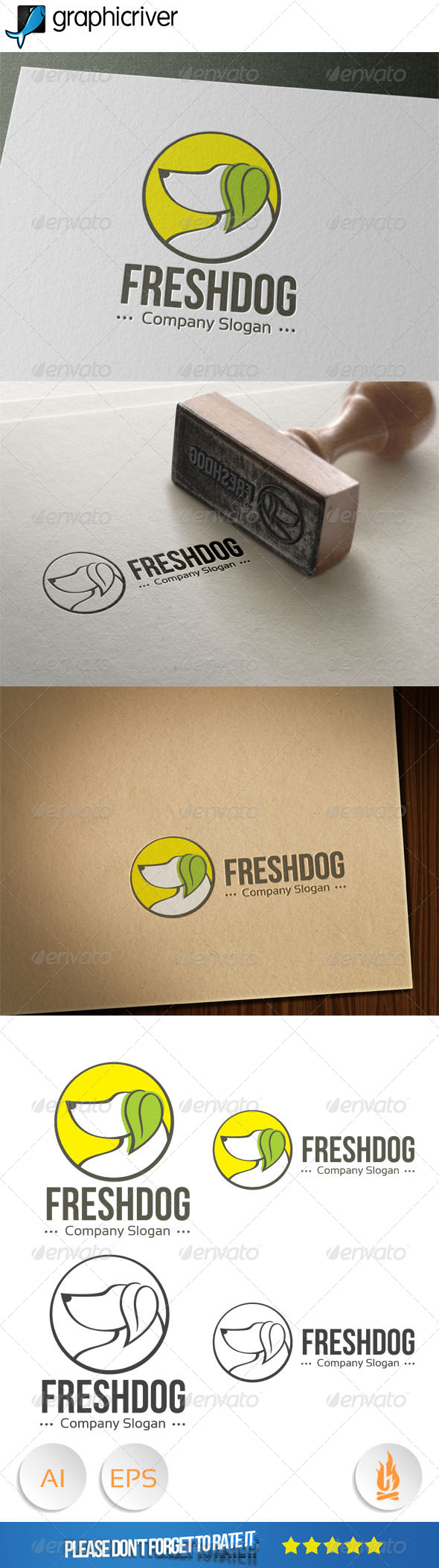 GraphicRiver Fresh Dog Logo 8079907