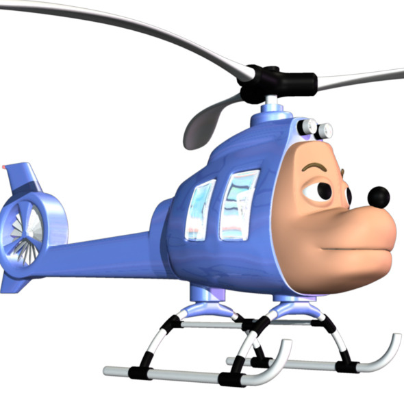 3DOcean Cartoon Helicopter 8059938