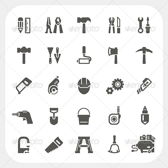 GraphicRiver Tool Icons Set 8080785