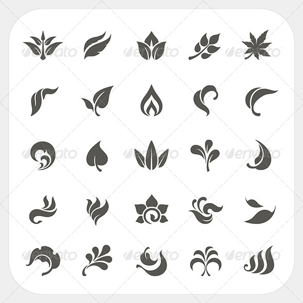GraphicRiver Leaf Icons Set 8080795