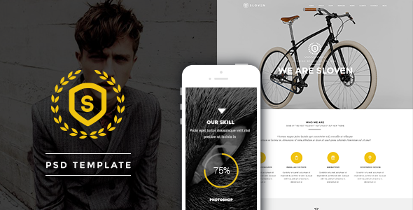 ThemeForest Sloven One Page PSD Template 8022096