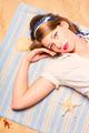 Hot retro pinup girl lying on beach in Australia - PhotoDune Item for Sale