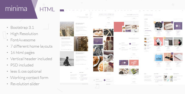 ThemeForest Minima Multipurpose HTML Template 8038363