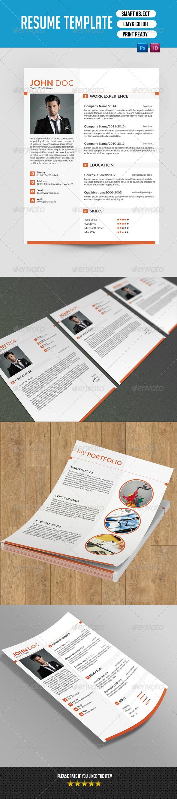 GraphicRiver Minimal Resume Template-V02 8081059