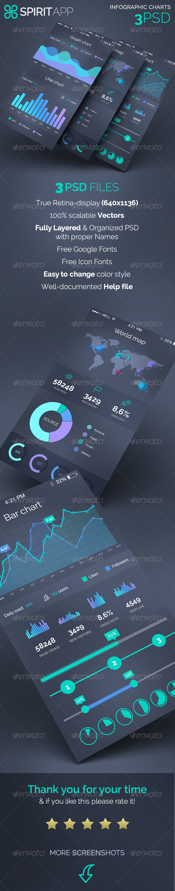 GraphicRiver SpiritApp Infographic Charts 8081263