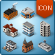 Isometric Map Icons - Buildings and Places - GraphicRiver Item for Sale