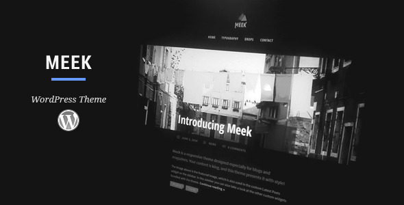 Meek WordPress Theme - Personal Blog / Magazine