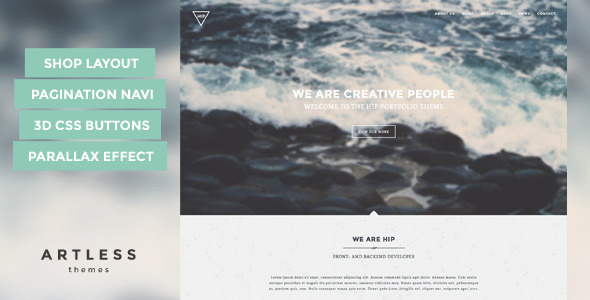 ThemeForest Hip Creative One Page Portfolio 8038650