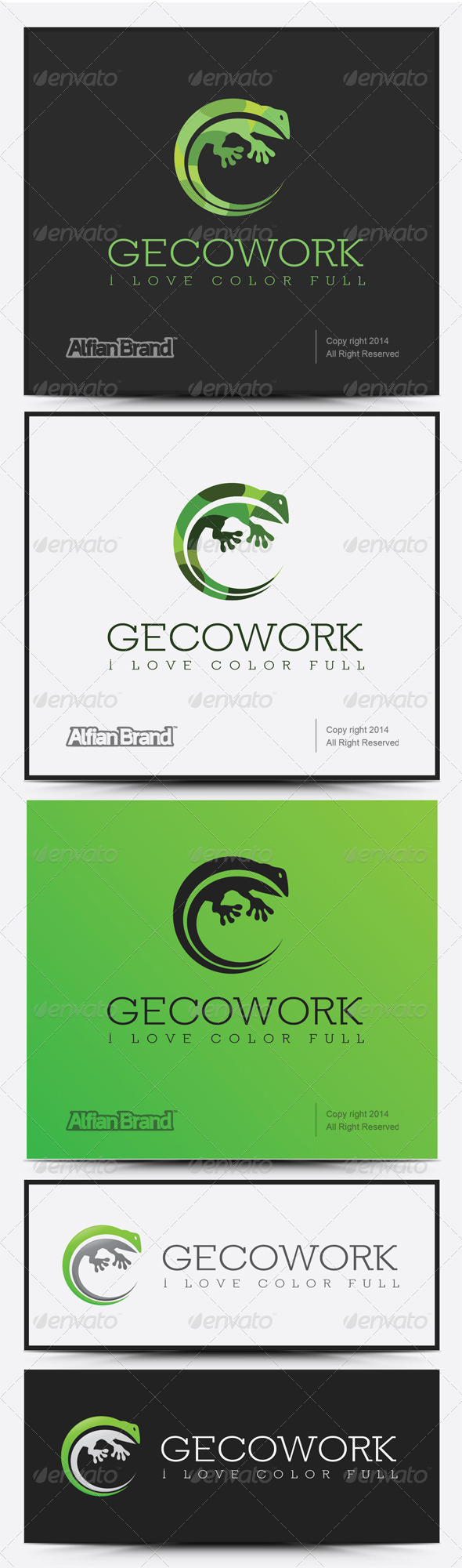 GraphicRiver Gecko Work Logo 8082349