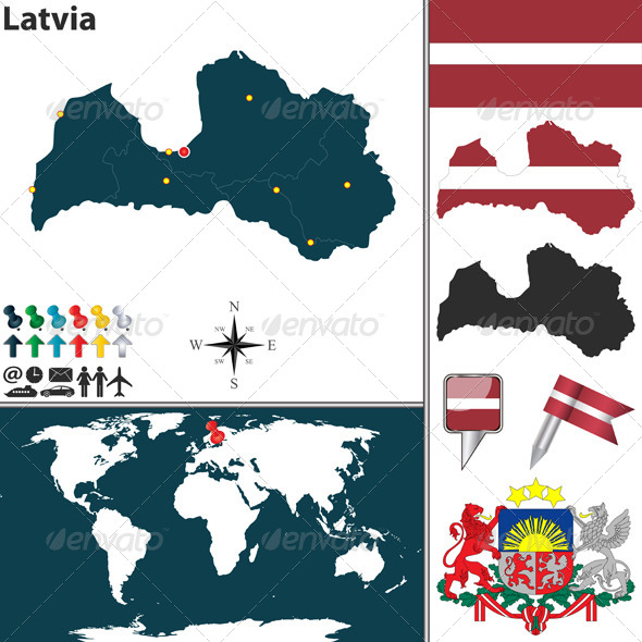 GraphicRiver Map of Latvia 8082490