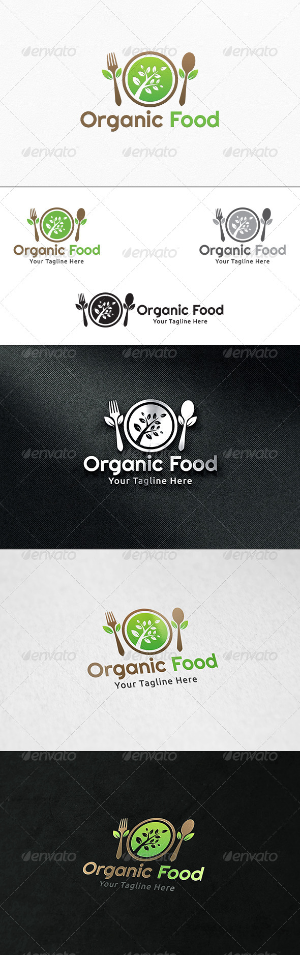 GraphicRiver Organic Food Logo Template 8082501