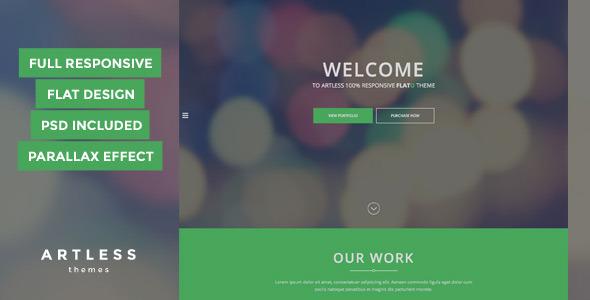 Flato - Parallax One Page HTML Template - Portfolio Creative