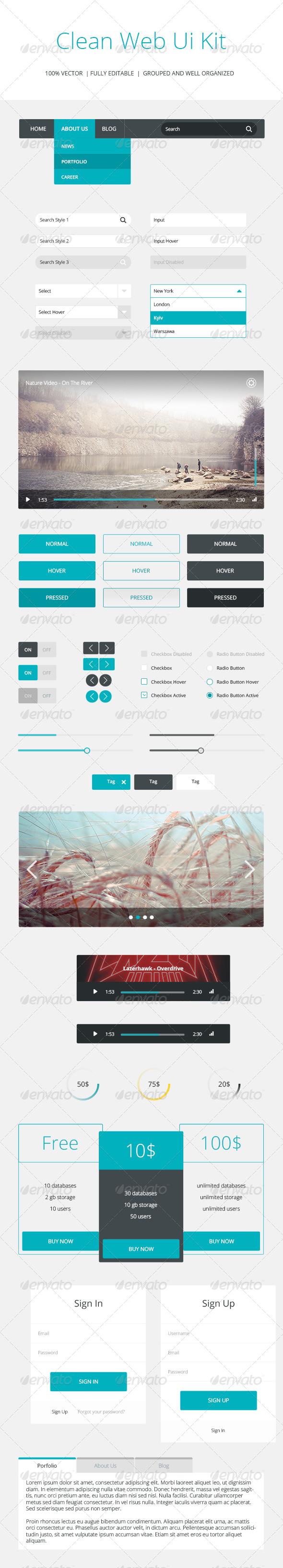 GraphicRiver Clean Web Ui Kit 8074691