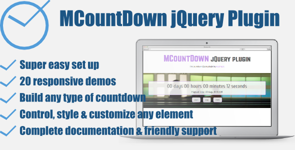CodeCanyon MCountDown Responsive jQuery Countdown Plugin 8082542