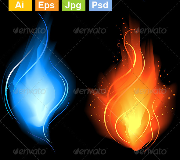 GraphicRiver Little Red and Blue Fire 8082544