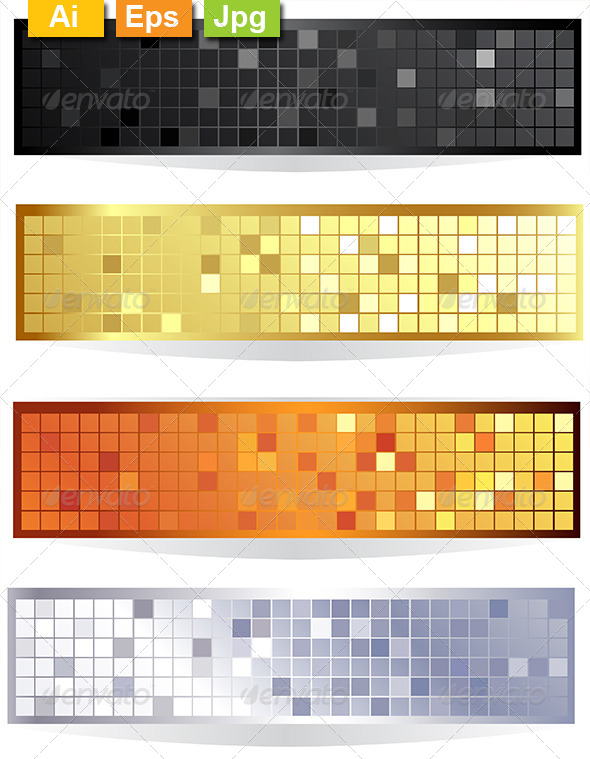 GraphicRiver Horizontal Checkered Banners 8082771