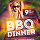 BBQ Dinner Summer Flyer Template - GraphicRiver Item for Sale