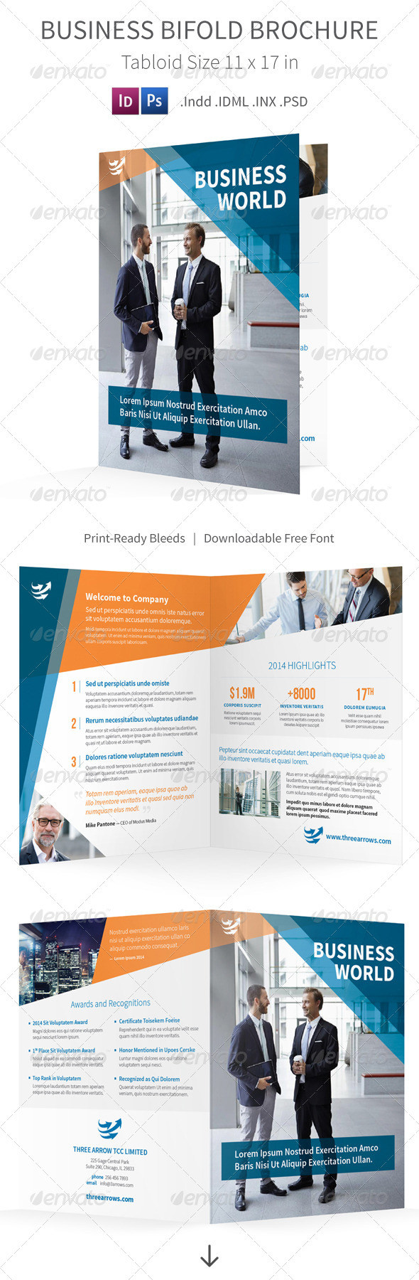 GraphicRiver Business Bifold Halffold Brochure 8082877
