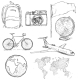 Set of Travel Sketch Objects and Signs - GraphicRiver Item for Sale