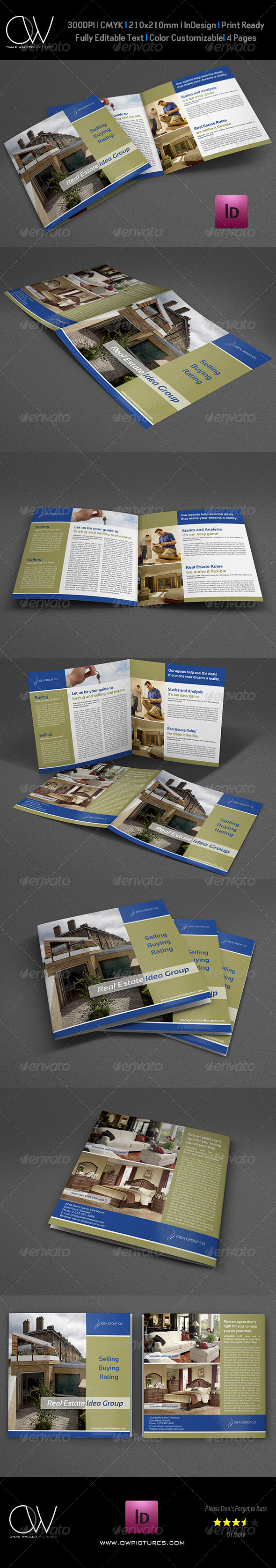 GraphicRiver Real Estate Bi-Fold Square Brochure Template Vol.3 8083027