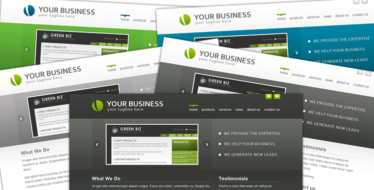 BlueCorp/GrayCorp - Multi-Use Business Template