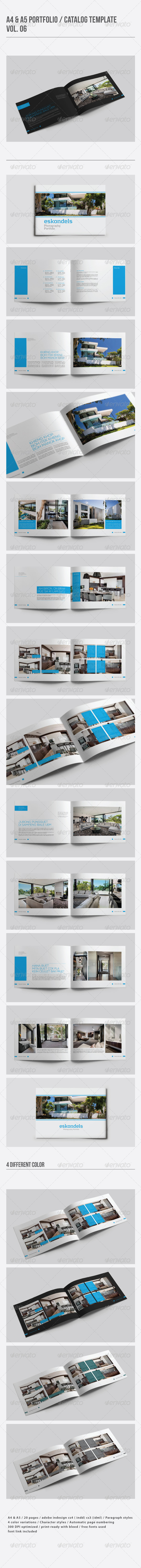 GraphicRiver A4 & A5 Portfolio Catalog Template Vol 06 8083067