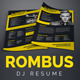 Rombus - DJ Resume - GraphicRiver Item for Sale