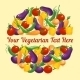 Circular Design for a Vegetarian Greeting Card - GraphicRiver Item for Sale