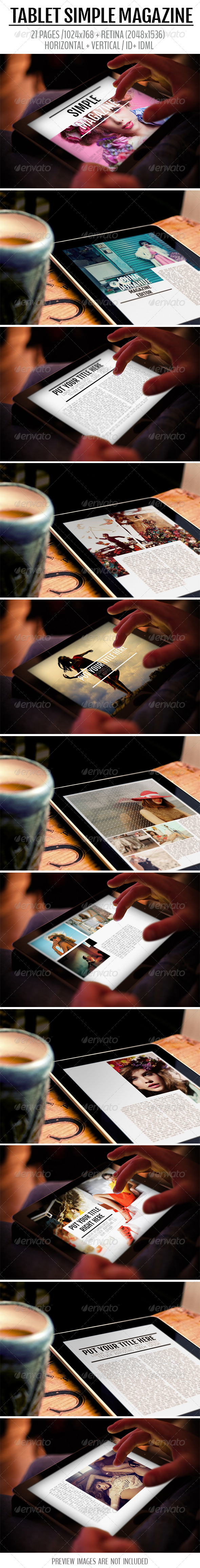GraphicRiver Tablet Simple Magazine 8083249