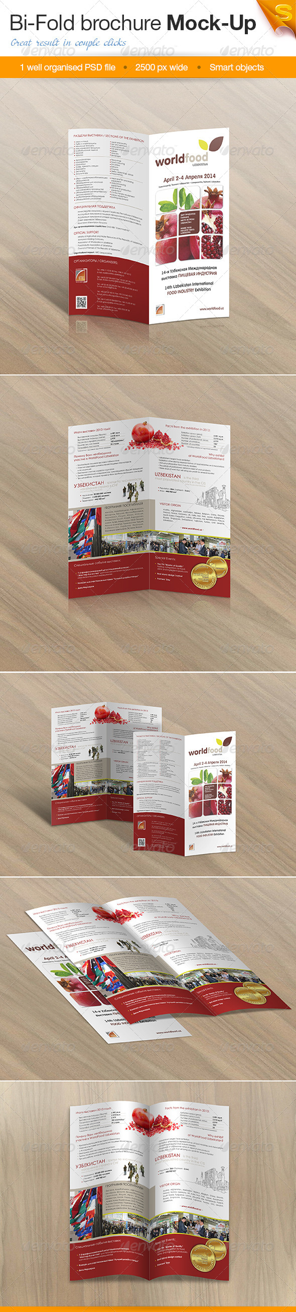 GraphicRiver Bi-Fold Brochure Mock-Up 8083266