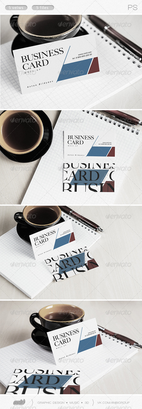 GraphicRiver Business Card Mock-Up II 8083339