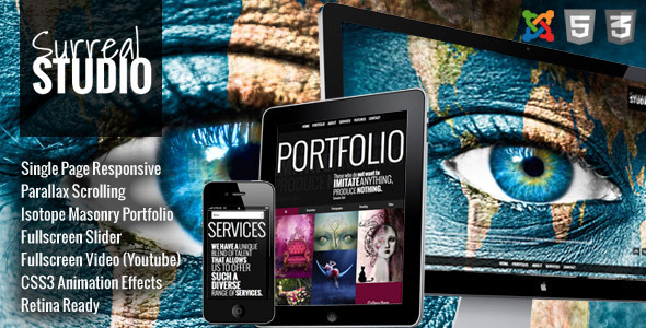 ThemeForest Surreal One Page Parallax Joomla Template 8083394