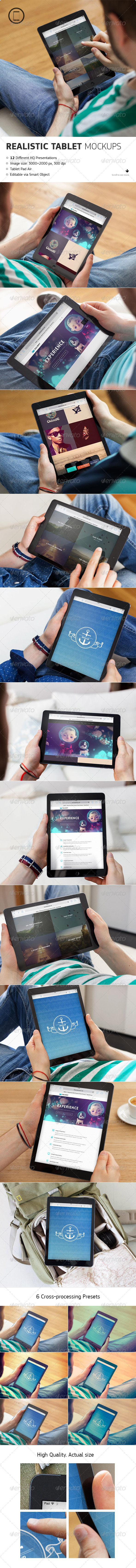 GraphicRiver Realistic Tablet Mock-Up 8083409