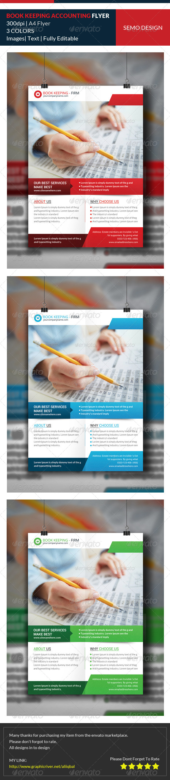 GraphicRiver Bookkeeping & Accounting Services Flyer Template 8083482