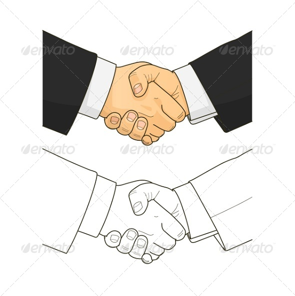 GraphicRiver Male Handshake 8083627