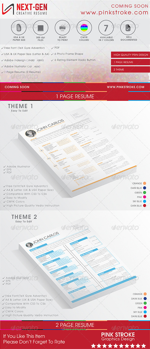 GraphicRiver Next Gen Resume 8083669