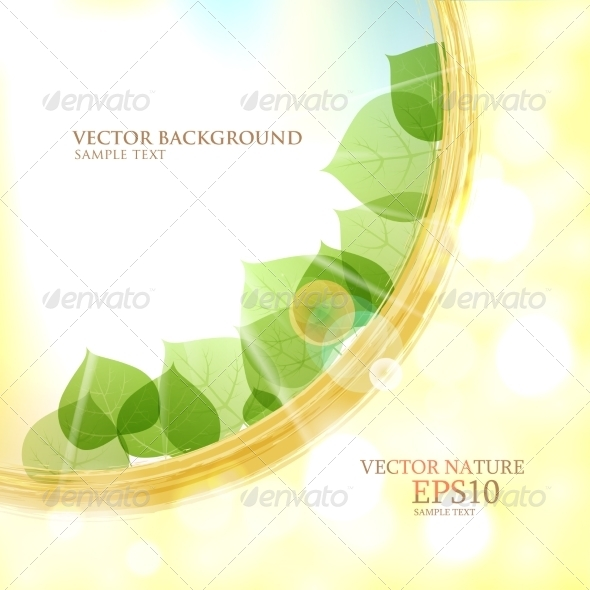 GraphicRiver Abstract Natural Background with Sun Leaves 8083761